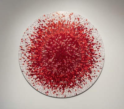 Nadia Myre, Meditations on Red # 2, 2013. Collection Musée d'art contemporain de Montréal. Photo: Richard-Max Tremblay (CNW Group/Musée d'art contemporain de Montréal)
