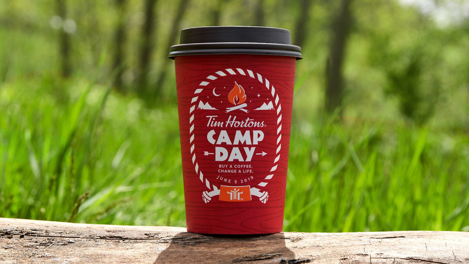 TODAY is Tim Hortons® Camp Day! Purchase a brewed coffee at participating Tim Hortons locations to help change a youth's life. (CNW Group/Tim Hortons)