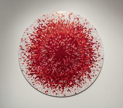 Nadia Myre, Meditations on Red # 2, 2013. Collection Musée d'art contemporain de Montréal. Photo: Richard-Max Tremblay (CNW Group/Musée d'art contemporain de Montréal)