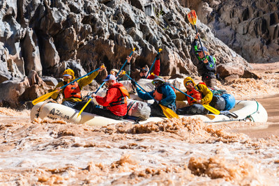 Braving fierce waters, participants set off on their journey along the Colorado River during the 2018 Raytheon-No Barriers Veteran Wilderness Expedition at the Grand Canyon in Arizona.