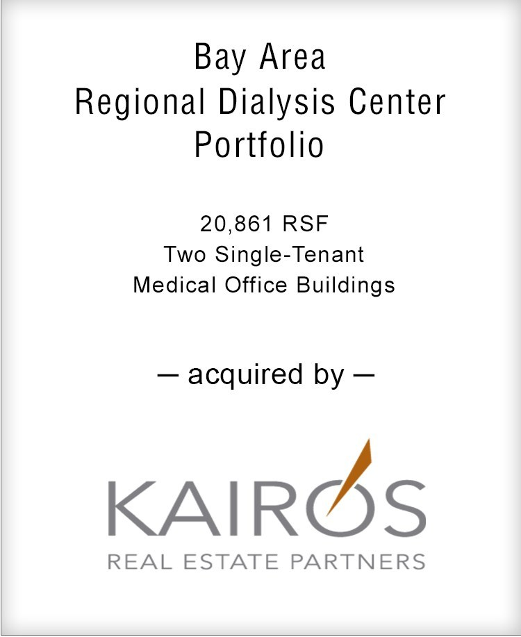 Brown Gibbons Lang & Company is pleased to announce the real estate sale of Bay Area Regional Dialysis Center Portfolio.