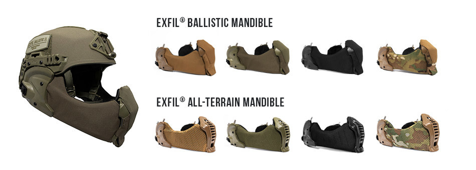 Team Wendy EXFIL® Ballistic Mandibles and EXFIL® All-Terrain Mandibles each available in four colors: Coyote Brown, Ranger Green, Black and MultiCam®.