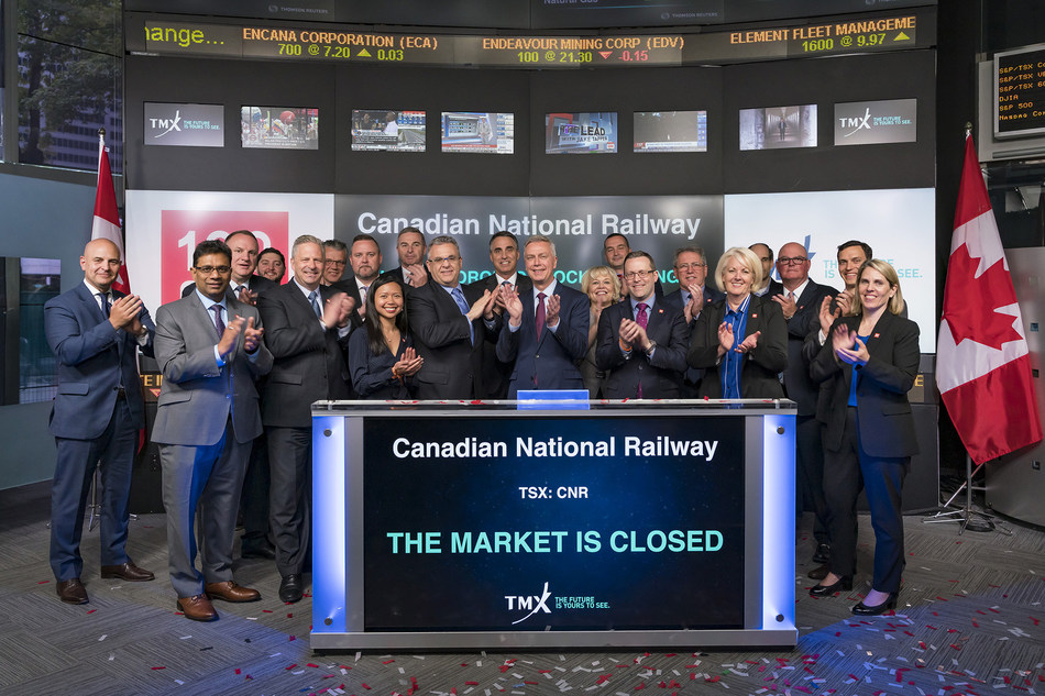 Canadian National Railway Company Closes the Market (CNW Group/TMX Group Limited)