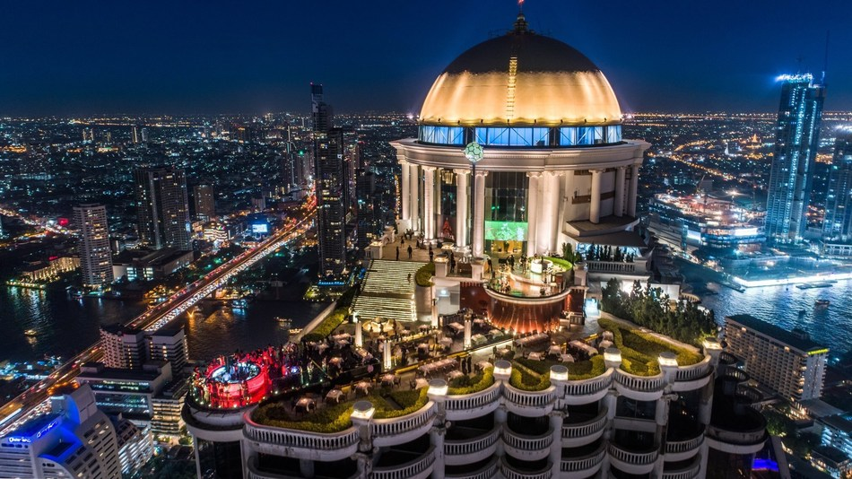 The Dome at lebua in Bangkok. Photo credit courtesy of lebua Hotels & Resorts