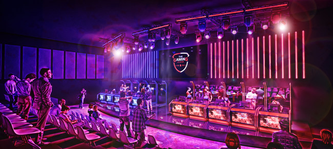 The main stage will allow for two to 12 players at any given time to compete in a true stadium setting.