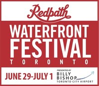 Redpath Waterfront Festival logo. (CNW Group/Water's Edge Festivals & Events)