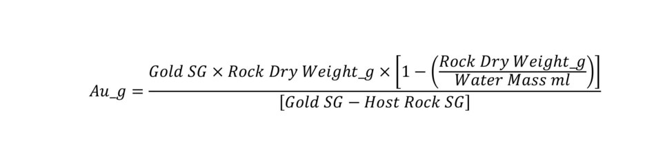 Specific gravity calculation method. (CNW Group/RNC Minerals)