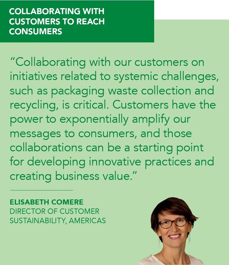 Tetra Pak Customer Sustainability Director Elisabeth Comere shares why it's so important to collaborate with customers to reach consumers.