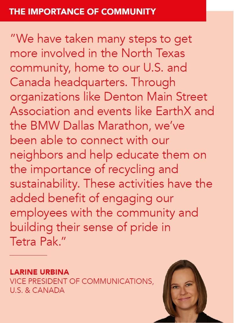 Tetra Pak VP of Communications Larine Urbina shares why the company is helping educate the community on sustainability.