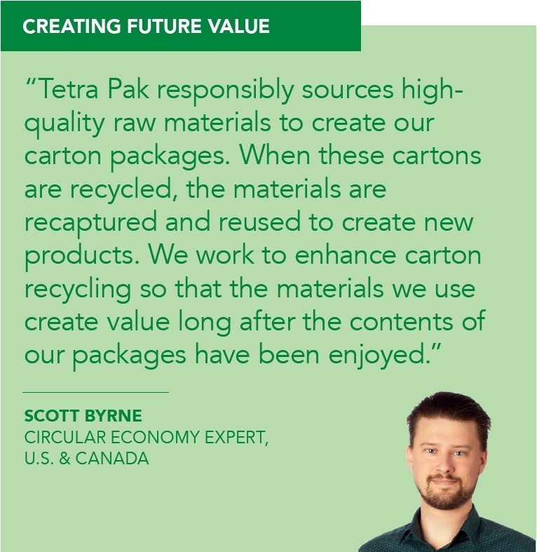 Tetra Pak Circular Economy Expert Scott Byrne shares how the company is creating future value.