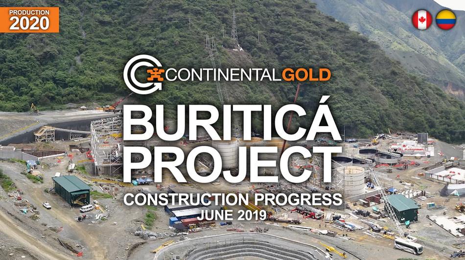 Construction Progress at Buritica (CNW Group/Continental Gold Inc.)
