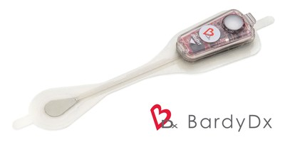 BardyDx Carnation Ambulatory Monitor (CAM™) - P-wave centric™ ambulatory cardiac patch monitoring and arrhythmia detection (PRNewsfoto/Bardy Diagnostics, Inc.)