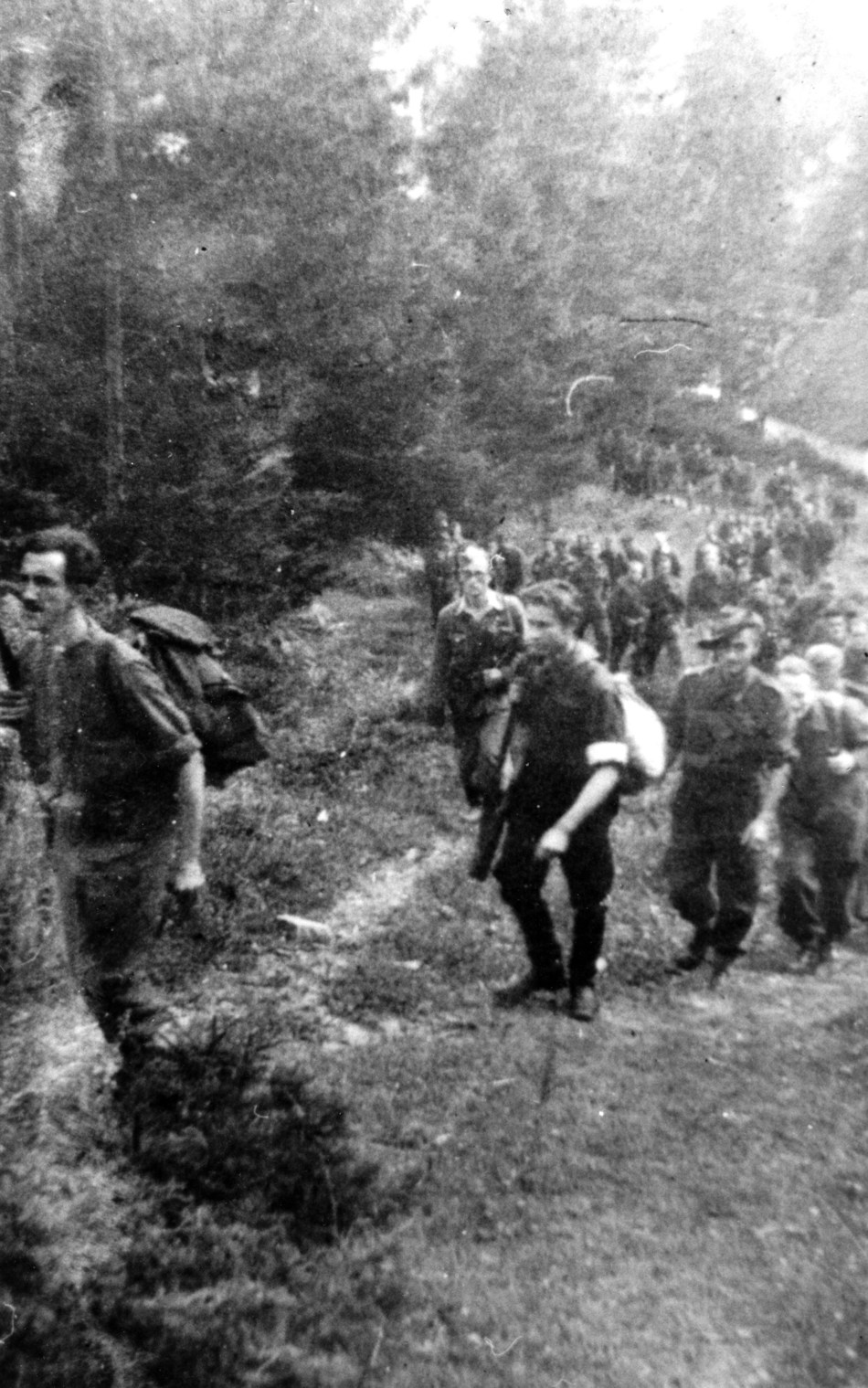 September 1944; over 100 prisoners of war escaping the Germans along The Crow's Flight freedom trail, guided by the Slovenian resistance.www.thecrowsflight.com / www.ahundredmilesasthecrowflies.com