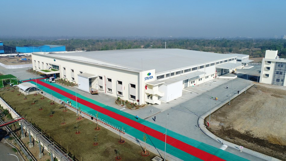 Strata's new manufacturing facility (PRNewsfoto/Strata Geosystems India Pvt Ltd)