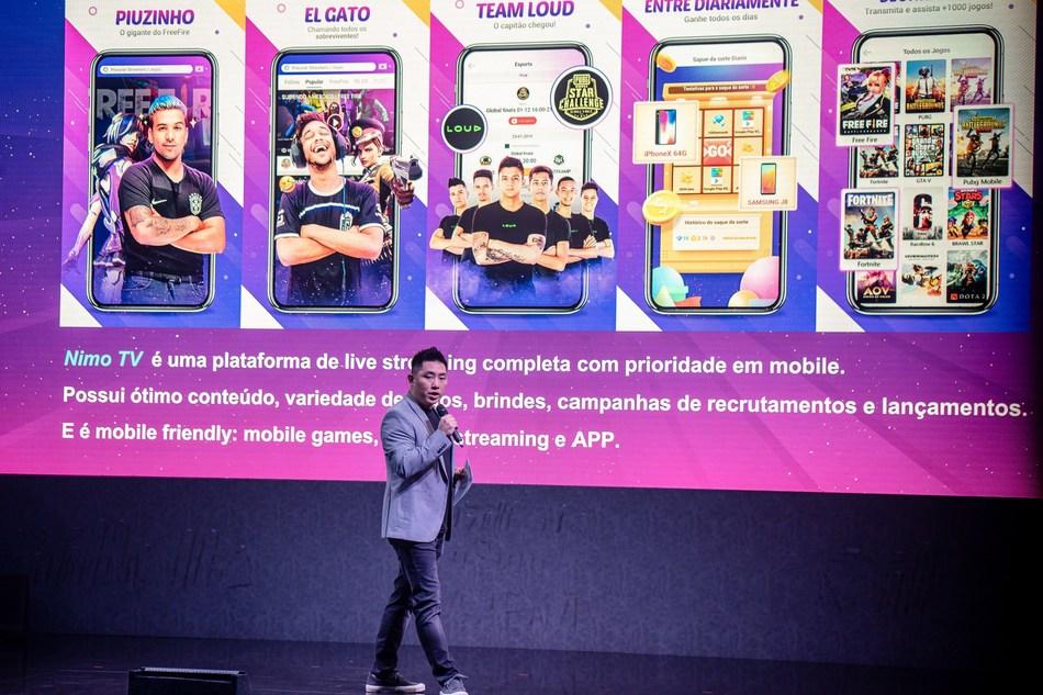 Lucas Peng, director nacional de Nimo TV Brasil (PRNewsfoto/Huya)