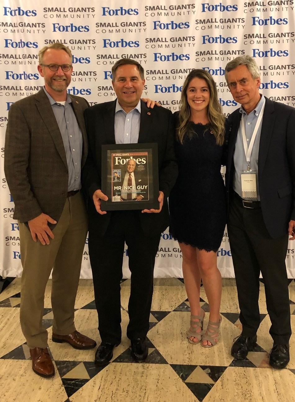 From left: Steve Brindle (Partner, Advoco), Marty Osborn (Partner, Advoco), Mary Devine (Director of Marketing & Events, Advoco), Fred Allen (Leadership Editor, Forbes.com)