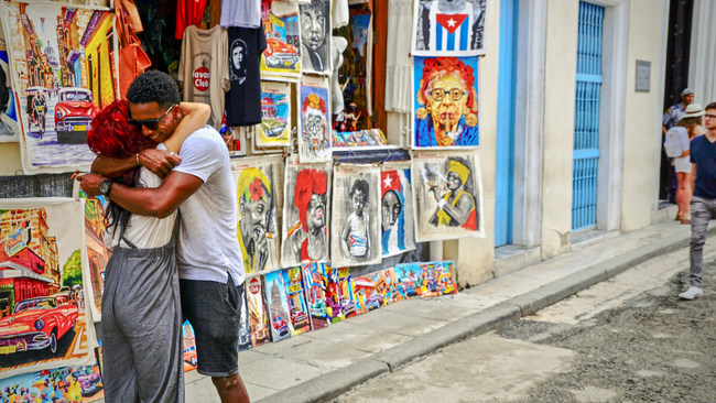 One of a Million Embraces in Havana