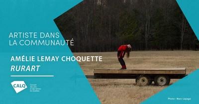 Amélie Lemay-Choquette, lauréate du prix Artiste dans la communauté. photo : Marc Lepage (Groupe CNW/Conseil des arts et des lettres du Québec)