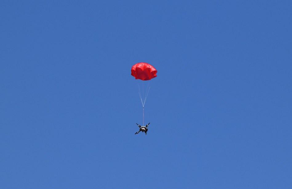 SafeAir Mavic during 45 aerial deployments