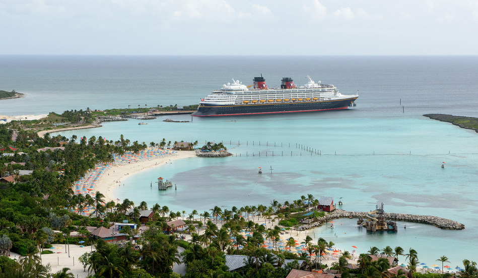 Castaway Cay, Disney's private island in the tropical waters of the Bahamas, is reserved exclusively for Disney Cruise Line guests. In a setting of crystal-clear turquoise waters, powdery white-sand beaches and lush landscapes, the 1,000-acre island offers one-of-a-kind areas and activities for every member of the family. (Todd Anderson, photographer)