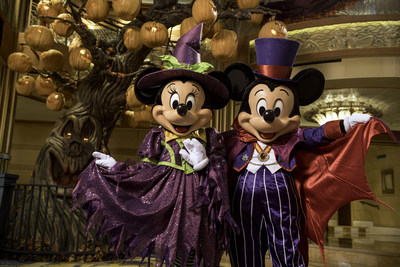 Disney Cruise Line treats guests sailing in the fall to a wickedly good time as the Disney ships transform into a ghoulish wonderland during Halloween on the High Seas cruises. For this extra-spooky celebration, each ship boasts its own signature Pumpkin Tree. (Kent Phillips, photographer)