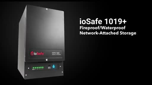 The ioSafe 1019+ fire- and waterproof network attached storage device (NAS) ensures business continuity when disaster strikes.