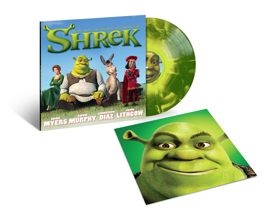 2001's chart-topping, multi-platinum soundtrack album, 'Shrek (Music From The Original Motion Picture),' is making its vinyl release debut. On August 2, Geffen/UMe will reissue the blockbuster soundtrack for the acclaimed, Academy Award®-winning film in new black and limited edition dark green with lime-green starburst vinyl LP editions.