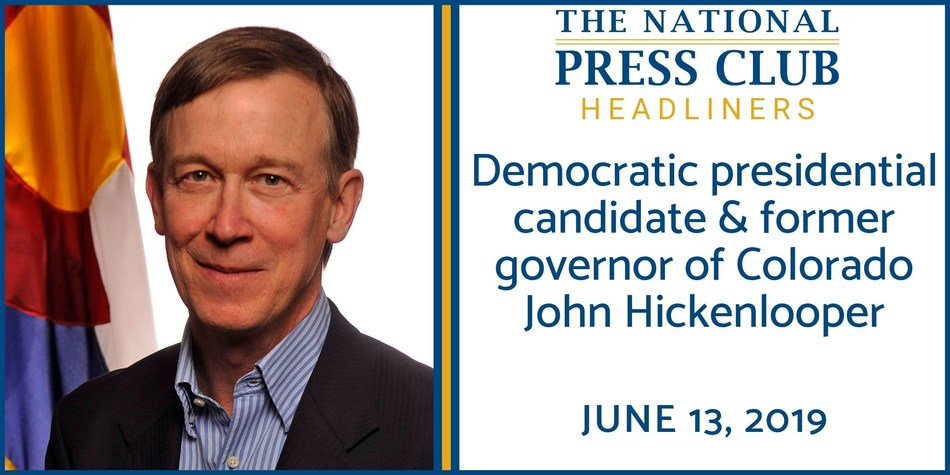 Democratic presidential candidate and former Colorado governor John Hickenlooper to discuss his plan to expand access to contraception at a National Press Club Headliners event June 13