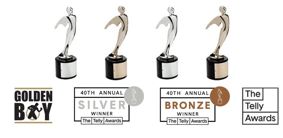 Golden Boy Wins 4 Telly Awards (PRNewsfoto/Golden Boy)