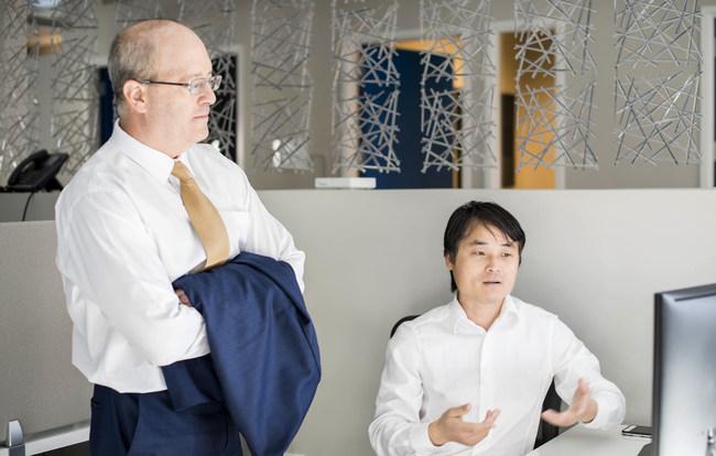Infinia ML Chief Scientist Larry Carin and Infinia ML Data Scientist Jun Liu