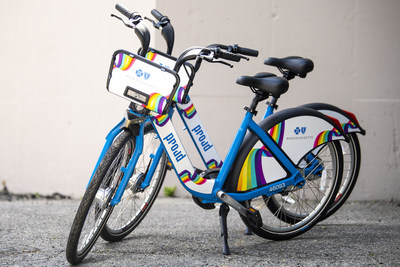Blue Cross Proud bikes unveiled for Pride Week and Boston Pride Parade