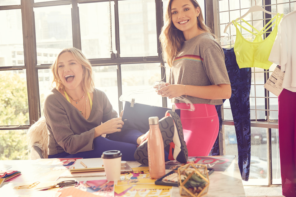 Kate Hudson and Maddie Ziegler behind-the-scenes at a design meeting for the Maddie Ziegler <3 Fabletics capsule collection