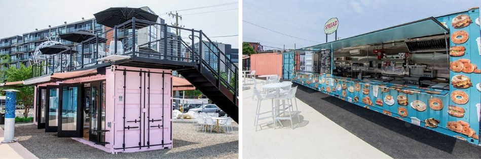 Post Brothers' new mixed-use outdoor space and beer garden. Photo courtesy of The Piazza Pod Park.