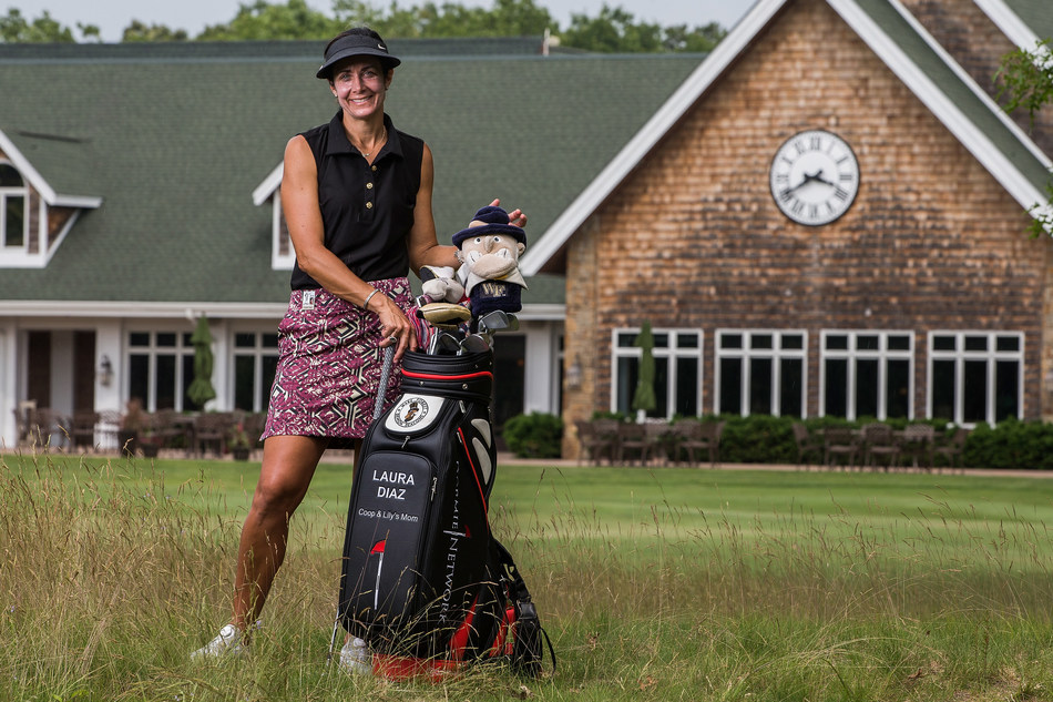 Professional golfer Laura Diaz at Hidden Creek Golf Club in New Jersey