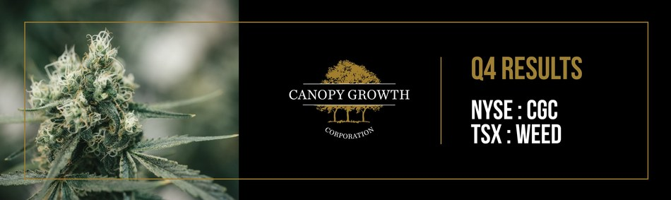 Canopy Growth to Announce Fourth Quarter and Fiscal Year 2019 Financial Results (CNW Group/Canopy Growth Corporation)
