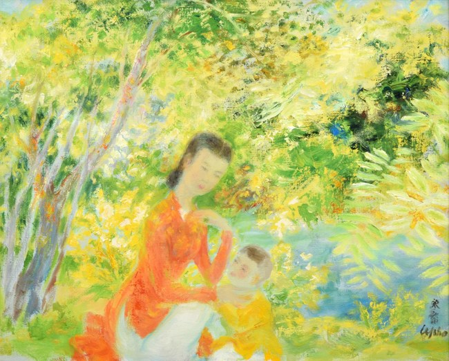 Le Pho (Vietnamese/French, 1907-2001), oil-on-canvas painting, 27.25 x 32in (framed). Sold for $52,000