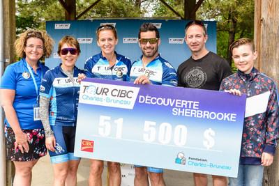 Grand succès de la 3e édition du parcours de la Découverte Sherbrooke du tour CIBC Charles-Bruneau qui a permis d'amasser 51 500 $ ! (Groupe CNW/Fondation Charles-Bruneau)