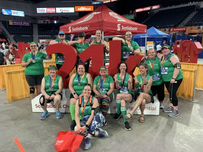 The 16th annual Scotiabank Blue Nose Marathon was a big success participants raising over $500,000 for 61 local charities as part of the Scotiabank Charity Challenge.  Photo Credit: Stoo Metz (Click Productions) (CNW Group/Scotiabank)
