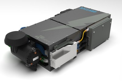 Ballard's new FCmove™-HD high performance fuel cell module for buses is shown above – the FCmove™ family of products is designed to power Heavy Duty Motive applications including buses, commercial trucks and trains. (CNW Group/Ballard Power Systems Inc.)