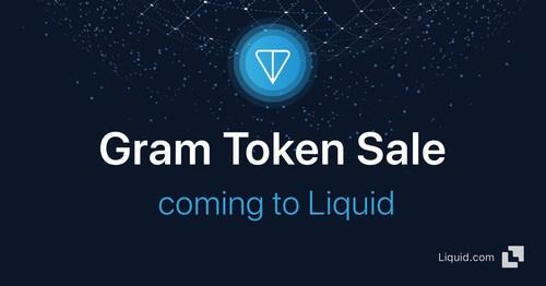 Liquid.com to exclusively offer Telegram Open Network token, Gram, via Public Token Sale (PRNewsfoto/Liquid.com)