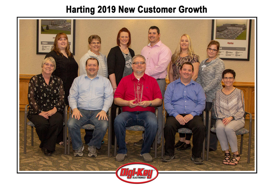 Digi-Key Team with the HARTING 2019 New Customer Growth Award