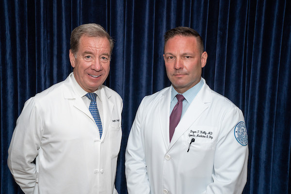 Left to right: Douglas E. Padgett, MD, is named the first Associate Surgeon-in-Chief and Deputy Medical Director at HSS, led by incoming HSS Surgeon-in-Chief and Medical Director Bryan T. Kelly, MD. Dr. Padgett will assume his new role on July 1.