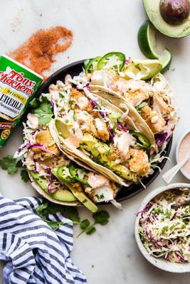 Tony's Creole Seasoning Spicy Fish Tacos by The Modern Proper