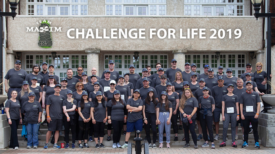 Team Maxim Truck & Trailer included 37 walkers and 31 event volunteers for the 2019 CancerCare Challenge for Life. (CNW Group/Maxim Truck & Trailer)