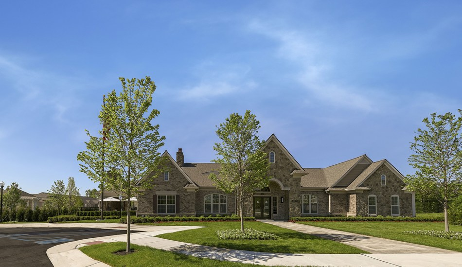 The brick and stone clubhouse welcomes residents and guests to enjoy its elegant lounge for special celebrations. A 24/7 fitness center, business center and complimentary Wi-Fi ensure the clubhouse is teeming with activity.