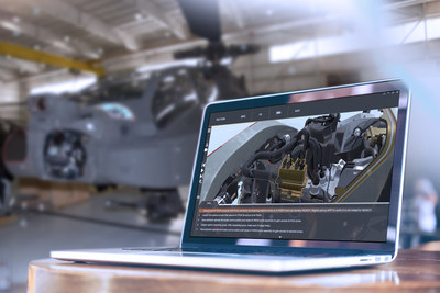 Lockheed Martin's RELY3D® tool offers interactive training and features that support the reduction of maintenance time on Apache helicopter sensor systems.