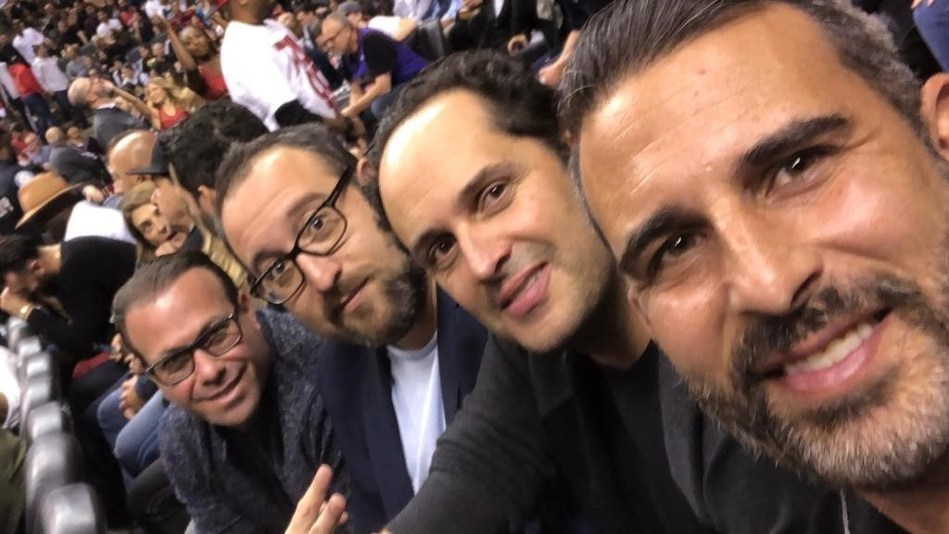 Four partners enjoying the game. From left to right: Jeremy Diamond, Zev Bergman, Corey Sax and Isaac Zisckind (CNW Group/Diamond and Diamond Lawyers LLP)