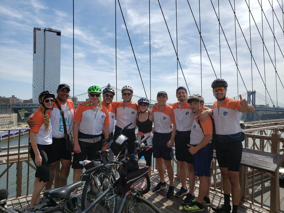 Participants pause for a photo during MTS Logistics' 9th Annual Bike Tour with MTS for Autism, Saturday, June 8, 2019.