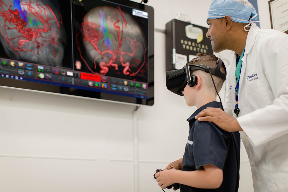 Using virtual reality headsets and a set of remote controls, Dr. Abilash Haridas, chief of pediatric neurosurgery at St. Joseph's Children's Hospital in Tampa, is able to guide patients through a 360-degree model of their brain to explain complex conditions and treatment options in a way they can understand.