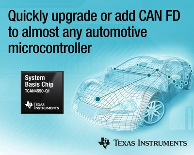 New automotive SBC helps designers add CAN FD without changing their microcontroller, reducing design and time to market for in-vehicle networks.
